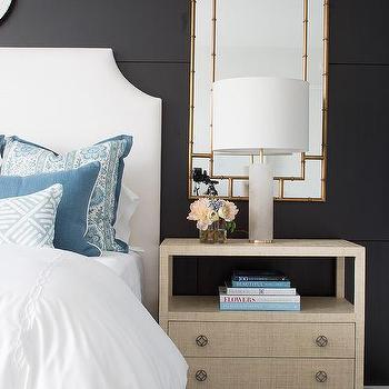 mirror behind nightstand design ideas