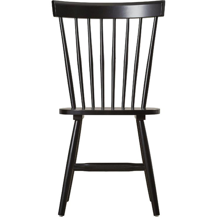 Marlow Ii Black Side Chair Crate And Barrel