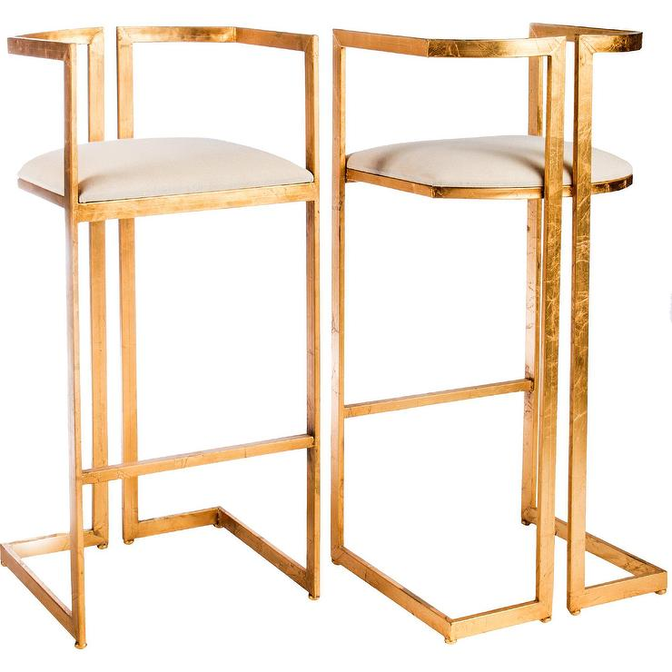 Photos Of Gold Fabric Barstools As Good Info For You