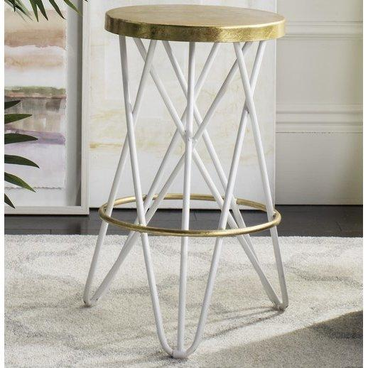 Fantastic Amulet Gold White Hairpin Bar Stool Pdpeps Interior Chair Design Pdpepsorg