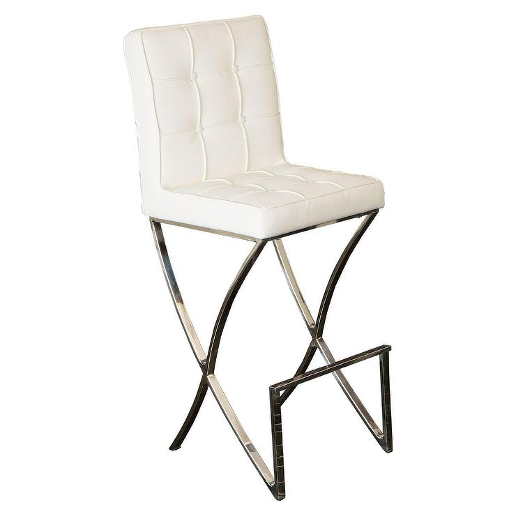Kosas Home Cayle French Beige Bar Stool