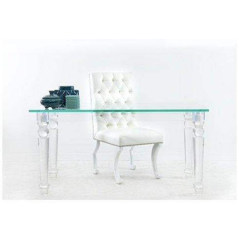 beverly hills acrylic turned legs glass desk rh decorpad com  all glass office desk