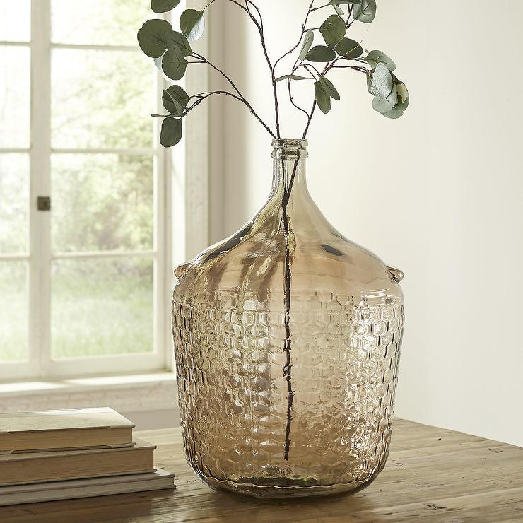 Colonial Recycled Textured Glass Vase