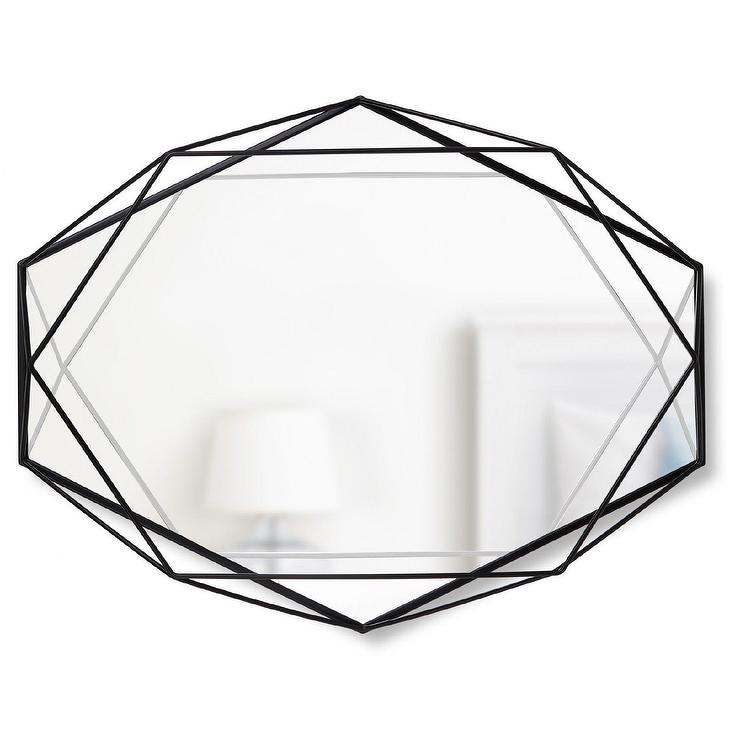 Prisma Geometrical Black Metal Wall Mirror