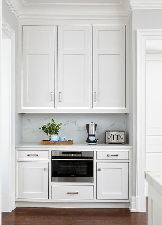 Small Butler Pantry Nook Transitional Kitchen