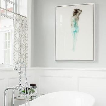 Blue Nude Bathroom Art Design Ideas