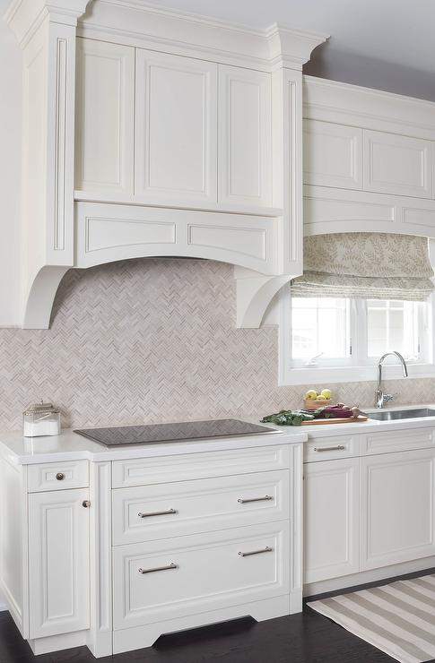 Cream Subway Backsplash French Kitchen Dodson And