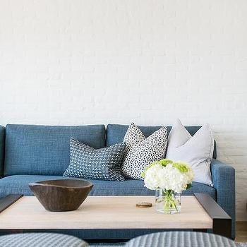Superbe Denim Blue Sofa