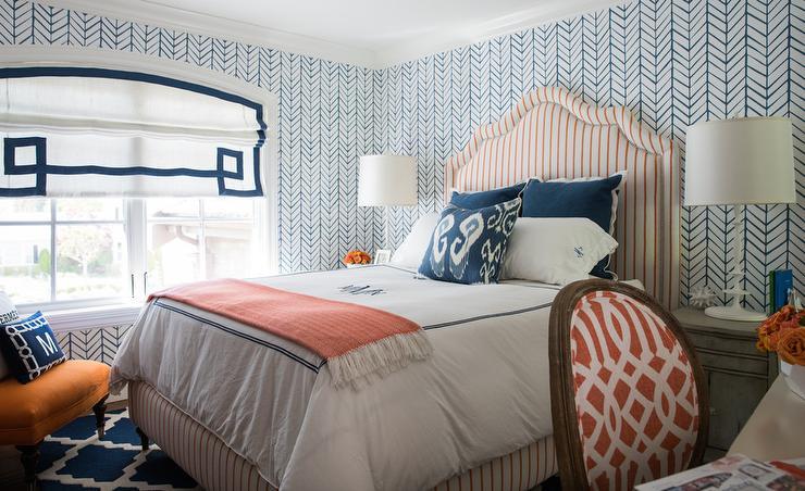 Gray And Orange Bedroom Transitional Bedroom Sage Design