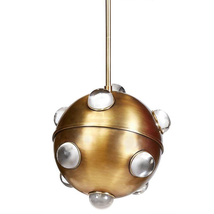 Globo acrylic domes brass globe pendant aloadofball Choice Image