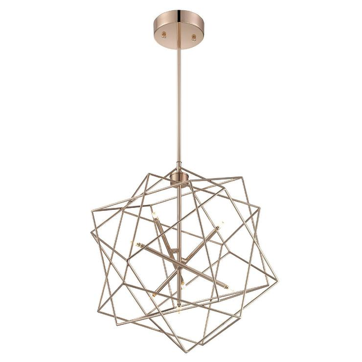 Loggins 7 Light Geometric Cage Foyer Pendant