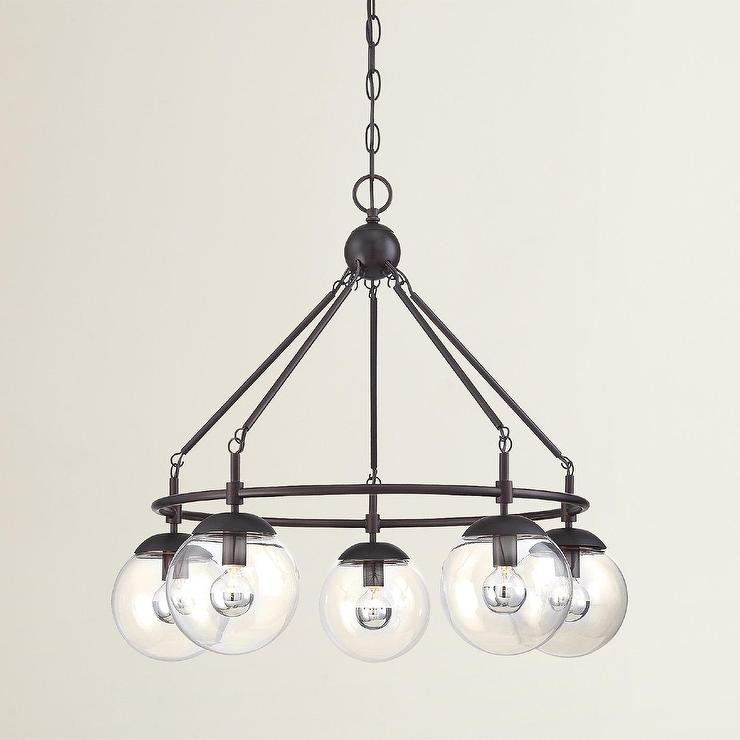Cranston Round 5 Light Globes Chandelier