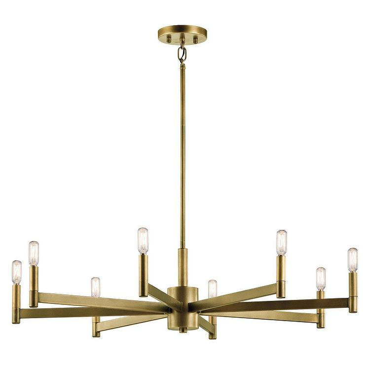 Contemporary White Chandelier Horchow
