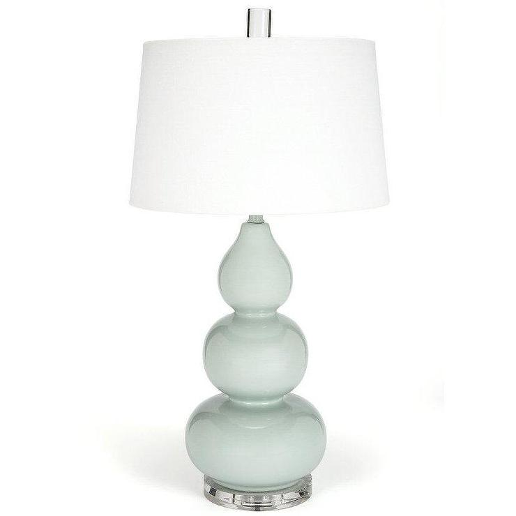 Suzanna Curved Mint Green Ceramic Table Lamp