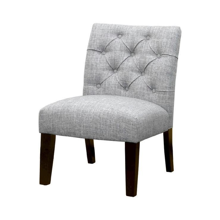 Monelle Grey Velvet Armless Chair Overstock Com