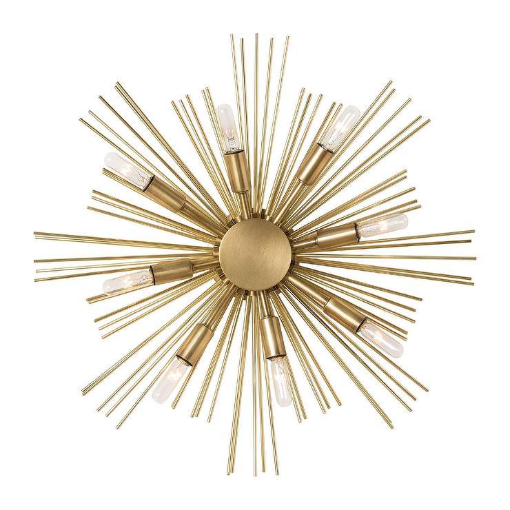 Completely new Jiten 8 Light Gold Sputnik Wall Sconce QU97