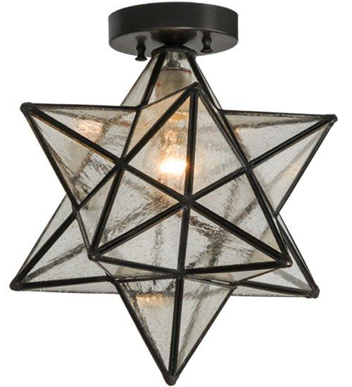 Mercury Glass Moravian Star Flush Mount Products bookmarks