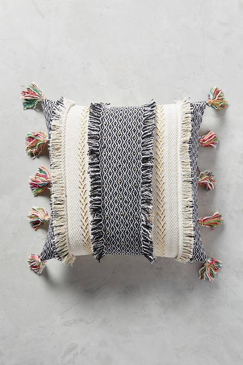 Square Metallic Sequin Swirl Accent Pillow