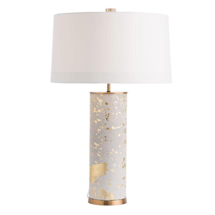 Sheena Cylinder Gold Leaf Sotted Table Lamp