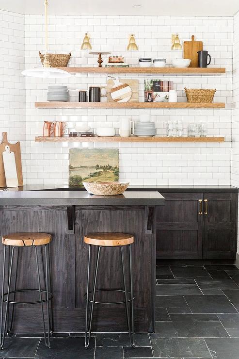 dark brown oak wet bar cabinets