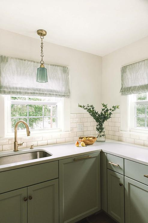 Pale Green Cabinets Design Ideas