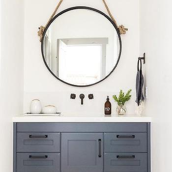 Rope Hanging Vanity Mirror Design Ideas, Rope Hanging Vanity Mirror