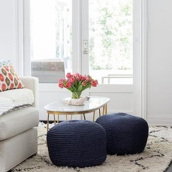 of century velvet for poufs pair room unique with living chairs club pouf blue in leather mid