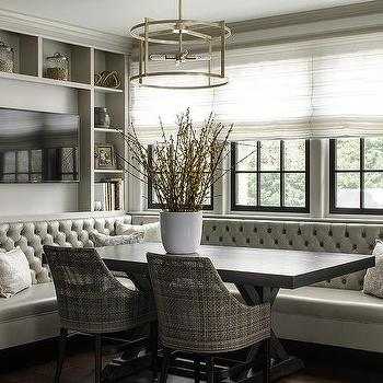 Tufted Banquette Contemporary Dining Room Kishani Perera