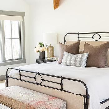 Black And White Houndstooth Bedroom Rug Design Ideas