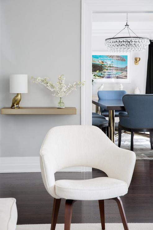 Foyer with wainscot bench transitional entrance foyer benjamin moore museum piece - Wall taupe ...