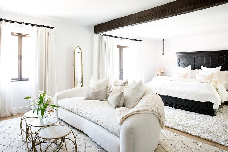 Black And White Spanish Style Bedroom