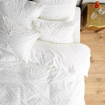 white textured duvet cover Diamond Textured Vesper Duvet   Products, bookmarks, design  white textured duvet cover