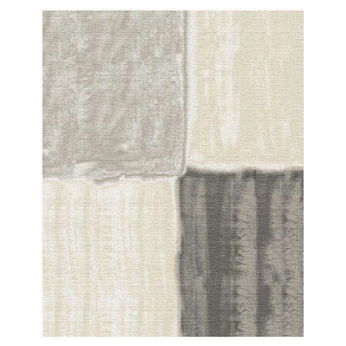 Watercolor Squares Neutral Area Rug