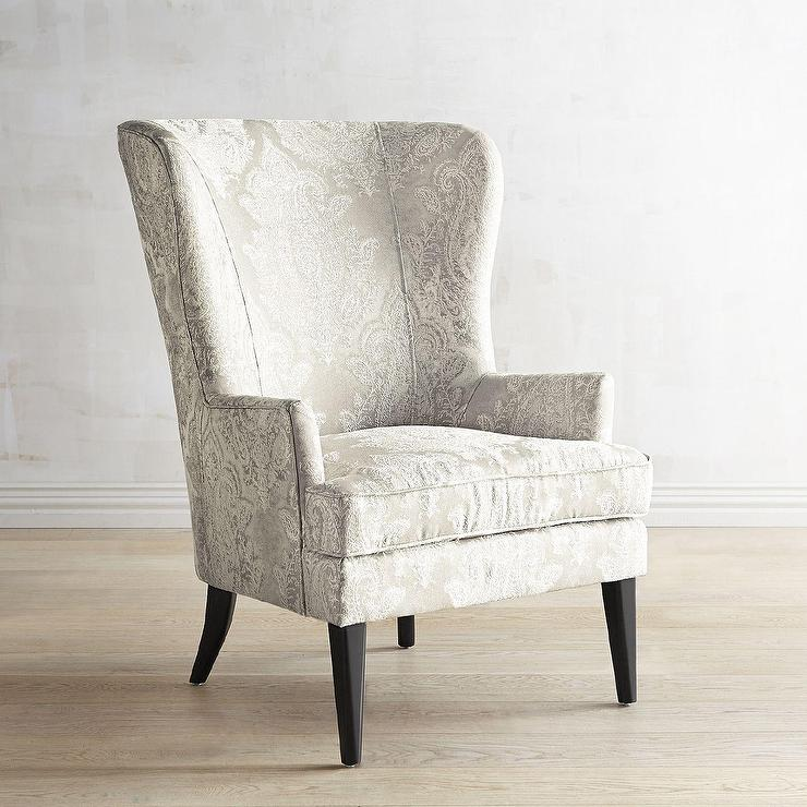 Asher Pearl Classic Wingback Chair