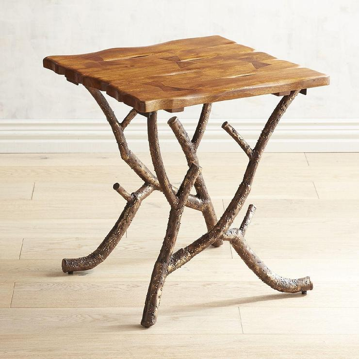 Blake Rustic Wooden Side Table