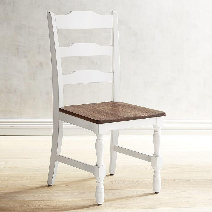 Distressed White Dining Chair