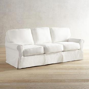 Simply Slipcovered Sofa Wisteria