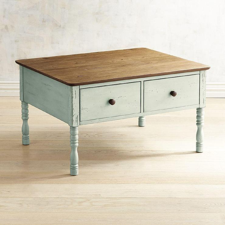 Haven Soft Green Pine Coffee Table