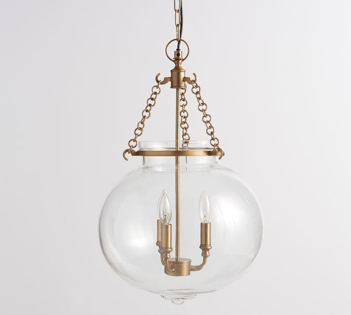 Regina andrew large globe clear pendant hayes brass glass globe pendant aloadofball Image collections