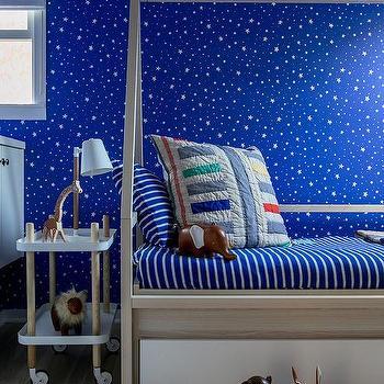Blue Kid Bedroom Wallpaper Design Ideas