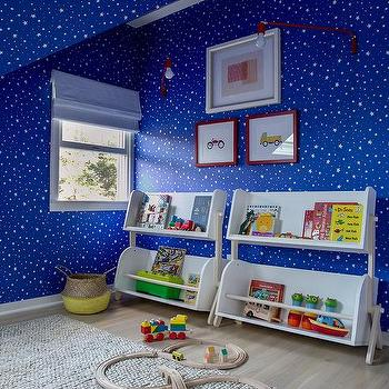 Blue Night Sky Wallpaper In Boy Bedroom