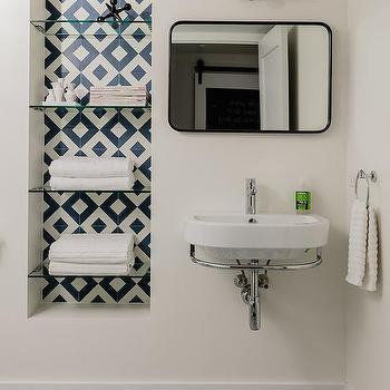 Recessed Bathroom Shelving Design Ideas