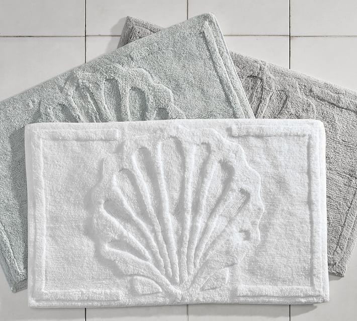 Grey And White Geometric Bath Mat