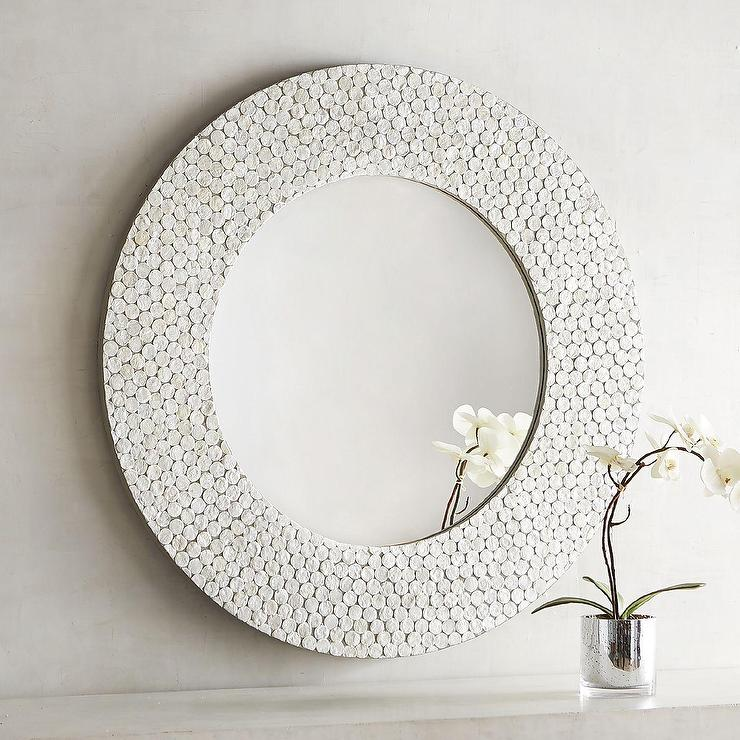 Floral Capiz Brown Mirror