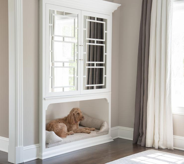 Gentil Stirling Mills Interior Design   Made For Dog Lovers, This Well Styled  Bedroom Features A Dog Bed Inset Beneath Recessed Built In Mirrored  Cabinets Framed ...
