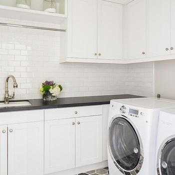 'Gray Hex Laundry Room Floors' from the web at 'https://cdn.decorpad.com/photos/2017/07/06/m_gray-laundry-room-ceiling.jpg'