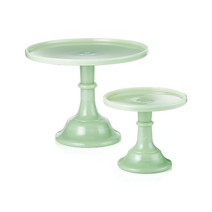sc 1 st  Decorpad & Mosser Jadeite Green Glass Cake Stand