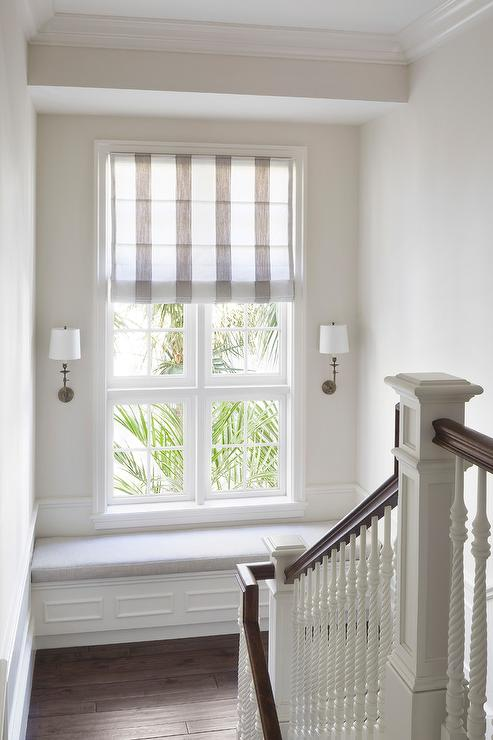 Staircase Landing Built In Window Seat Bench