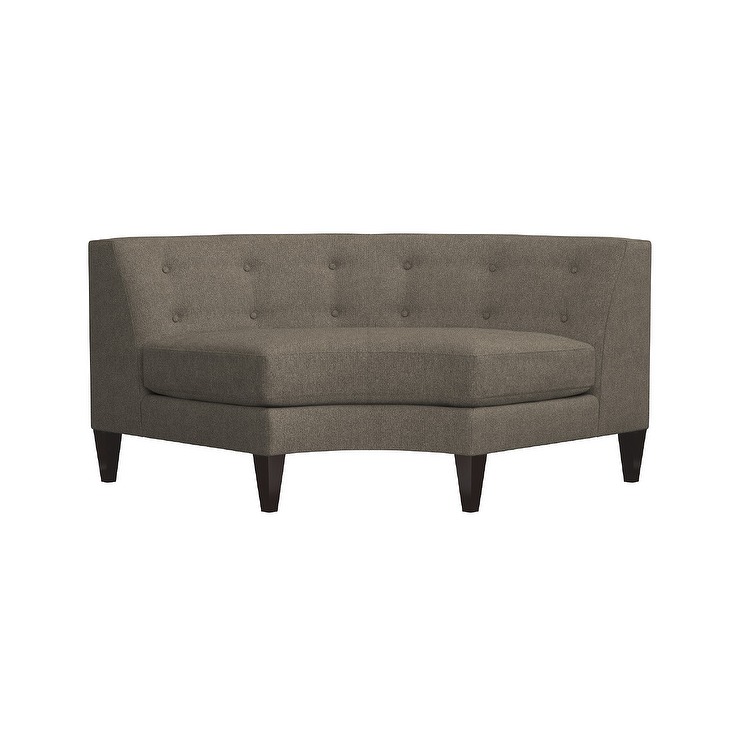 Sensational Aidan Taupe Button Tufted Sectional Wedge Gmtry Best Dining Table And Chair Ideas Images Gmtryco