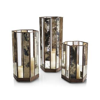 Paros Mercury Glass Lanterns Pottery Barn